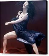 Blue Dancer Left View Canvas Print