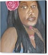 Blue Diva Canvas Print