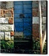 Blue Door In Venice Canvas Print