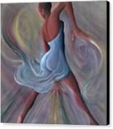 Blue Dress Canvas Print