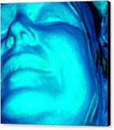 Blue Goddess Canvas Print