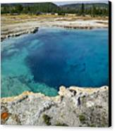 Blue Hot Springs Yellowstone National Park Canvas Print
