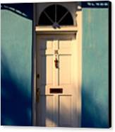 Blue House Door Canvas Print by Susanne Van Hulst