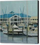 Blue Marina Canvas Print