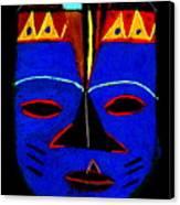 Blue Mask Canvas Print by Angela L Walker