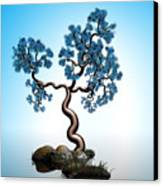Blue Math  Tree 2 Canvas Print by GuoJun Pan