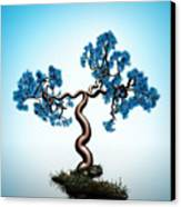 Blue Math  Tree Canvas Print by GuoJun Pan