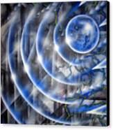 Blue Moon Falling Canvas Print