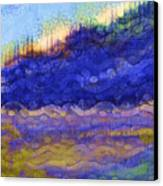 Blue Mountain River Canvas Print by Sydne Archambault