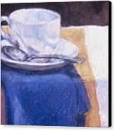 Blue Napkin Canvas Print