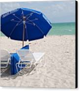 Blue Paradise Umbrella Canvas Print