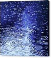Blue Raindrops Canvas Print by Maria Scarfone