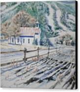 Blue Ridge Church Canvas Print
