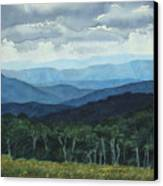 Blue Ridge From Grassy Bald  Study Canvas Print
