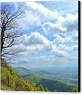 Blue Ridge Parkway Views - Rock Castle Gorge Canvas Print by Kerri Farley