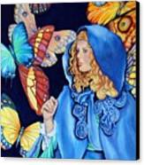 Blue Riding Hood Canvas Print