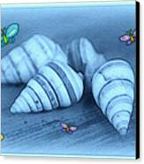 Blue Seashells Canvas Print