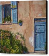 Blue Shutters Canvas Print