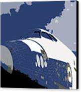 Blue Sky Shuttle Canvas Print by David Lee Thompson