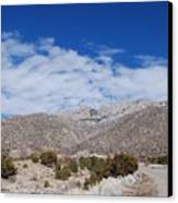 Blue Skys Over The Sandias Canvas Print