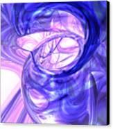 Blue Smoke Abstract Canvas Print