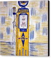 Blue Sunoco Gas Pump Canvas Print