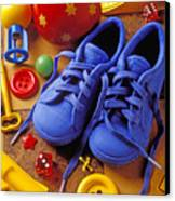 Blue Tennis Shoes Canvas Print by Garry Gay
