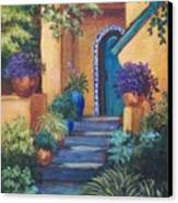 Blue Tile Steps Canvas Print by Candy Mayer
