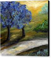 Blue Trees Canvas Print by Laura Swink