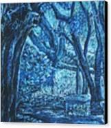 Blue Trees Canvas Print by Patricia Gomez