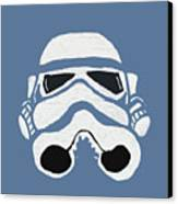 Blue Trooper Canvas Print by Jera Sky