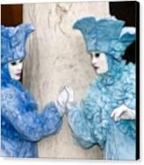 Blue Twins Canvas Print