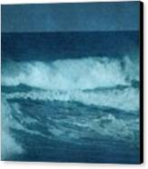 Blue Waves - Jersey Shore Canvas Print by Angie Tirado