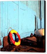 Blue Yellow And Red Canvas Print by Peter OReilly
