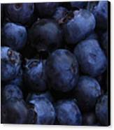 Blueberries Close-up - Horizontal Canvas Print