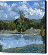Bluebonnet Pond Canvas Print