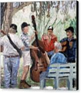 Bluegrass In The Park Canvas Print by Anthony Falbo