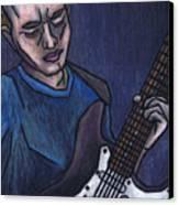 Blues Player Canvas Print