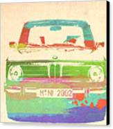 Bmw 2002 Front Watercolor 3 Canvas Print by Naxart Studio