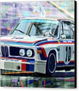 Bmw 3 0 Csl 1st Spa 24hrs 1973 Quester Hezemans Canvas Print by Yuriy  Shevchuk