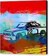 Bmw 3.0 Csl Racing Canvas Print by Naxart Studio