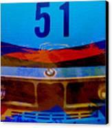Bmw Racing Colors Canvas Print by Naxart Studio