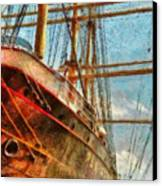 Boat - Ny - South Street Seaport - Peking Canvas Print by Mike Savad