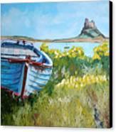 Boat On Lindisfarne. Canvas Print