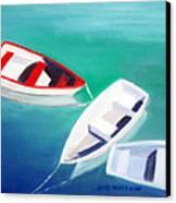 Boat Trio Canvas Print