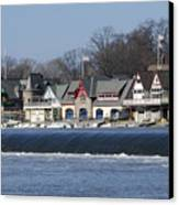 Boathouse Row - Philadelphia Canvas Print by Brendan Reals