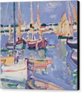 Boats At Royan Canvas Print