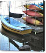 Boats For Rent Canvas Print by Dana Patterson