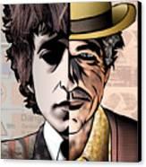 Bob Dylan - Man Vs. Myth Canvas Print by Sam Kirk