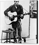 Bob Dylan B. 1941 Playing Guitar Canvas Print